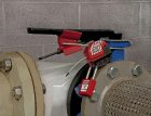 S3920 Butterfly Valve Lockout with S806CBL3 Adjustable Cable Device and 410RED Padlock
