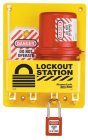 S1745E410 Compact Lockout Station shown with 410 Padlocks