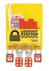S1720E410 Compact Lockout Station shown with 410 Padlocks