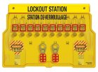 1483BP410FRC Padlock Station shown with 410 Padlocks