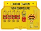 1482BP410FRC Padlock Station shown with 410 Padlocks