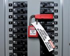 S297 Disposable Lockout Tag in use